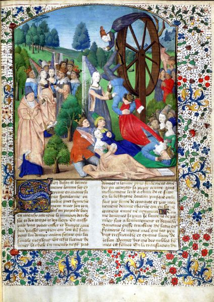 wheel of fortune medieval illustration