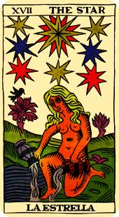 the star tarot card marseilles deck