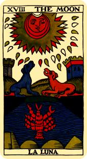 the moon tarot card marseilles deck