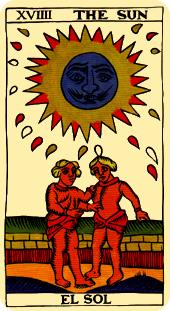 the sun tarot card marseilles deck