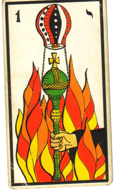 ace of wands tarot catd marseilles deck