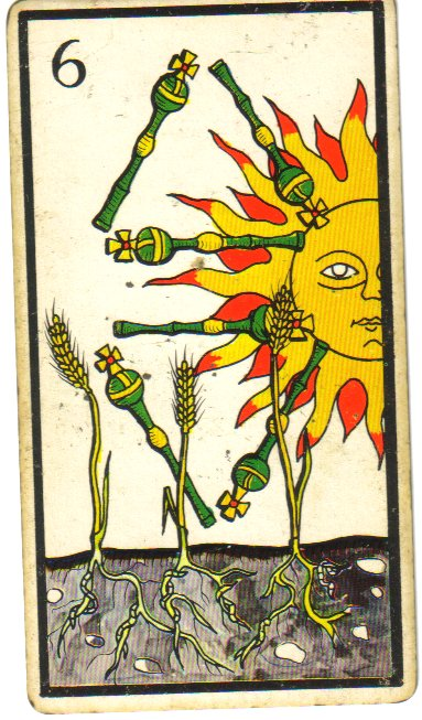 6 of wands tarot card