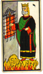 king of wands tarot card marseilles deck